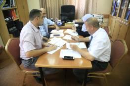 مبرة فلسطين والكلية الجامعية في إجتماع حول اليوم العالمي للشلل الدماغي