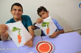 طلبة#مدرسة_سجىخلال نشاط تدريب مهني أقامه قسم التدريب المهني بجمعية مبرة فلسطين للرعاية